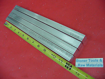 "4 Pieces 5/8"" X 5/8"" ALUMINUM 6061 SQUARE FLAT BAR 12"" long T6511 New Mill Stock"