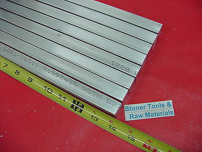 "8 Pieces 5/8"" X 5/8"" ALUMINUM 6061 SQUARE FLAT BAR 14"" long T6511 New Mill Stock"
