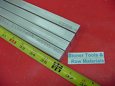 "4 Pieces 5/8"" X 5/8"" ALUMINUM 6061 SQUARE FLAT BAR 36"" long T6511 New Mill Stock"