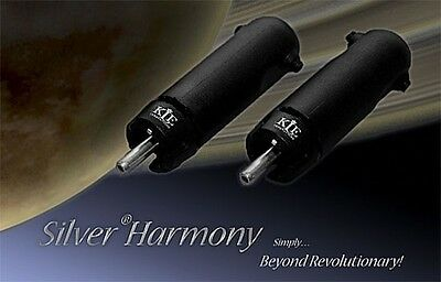 Kle Innovations Silver Harmony Rca Connectors | Pack Of 2 Connectors | Eichmann