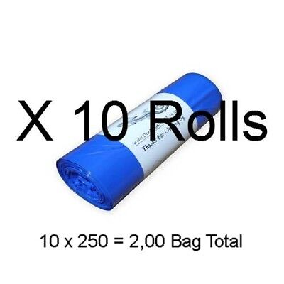"2500 Dog Poop Bags 10 Rolls 3/4mil Thick Biodegradable Waste Bag 8"" X 14"" #14a"