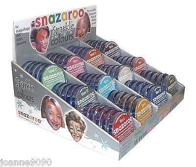 Professional Snazaroo Face Paints Make Up Sparkle Metallic Painting Body Paint