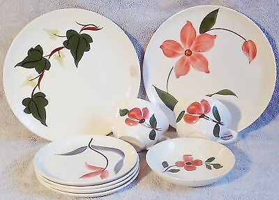 Vintage BLUE RIDGE/STETSON Baltic Ivy etc 9 Dishes Mult-color