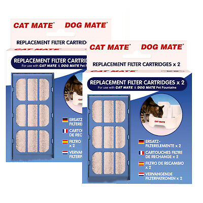 New Pet Mate Cat  Water Fountain Filter Cartridge 2 Packs Of 2