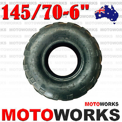 "145/70 - 6"" inch Front Rear Tyre Tire 50cc 70cc  110cc Quad Bike ATV Dune Buggy"