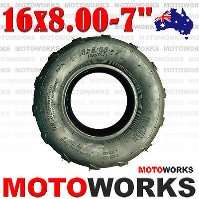 "16 X 8.00 - 7"" inch Front Rear Tyre Tire 125cc Quad Dirt Bike ATV Buggy GoKart"