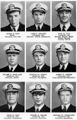 1944 New London CT Trumbull Maritime Officers YB~Photos~History~Boxing~WWII