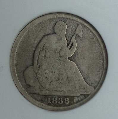 10c Cent Dime 1838 O, NGC, Seated Liberty