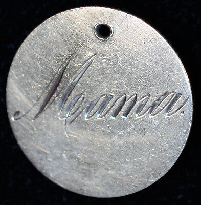 Love Token Engraved MAMA on 1882  Liberty Seated Dime Silver.