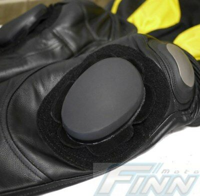 Motorcycle Racing Knee Sliders Triple Strength Leather Suit Pants Italian Design