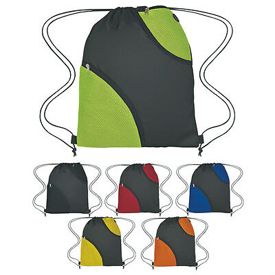 50 DRAWSTRING BACKPACKS With Two Soft Mesh Pockets - MORE PRODUCTS IN OUR STORE