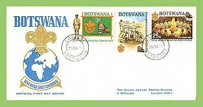 Botswana 1969 World Scout Conference set on First Day Cover