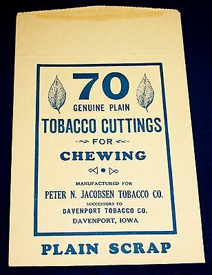 VINTAGE PETER N. JACOBSEN TOBACCO CO CHEWING TOBACCO CUTTINGS PACKAGE
