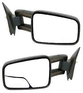 Manual Towing Side View Mirrors Pair L/R For 99-07 Chevy Sierra Silverado Truck