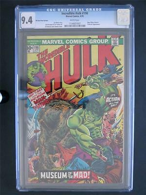 Incredible Hulk #198 MARVEL 1976 -NEAR MINT- CGC 9.4 NM - 30 cent Variant - LOOK