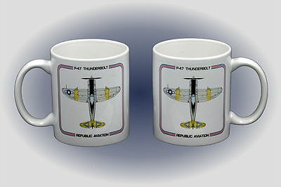 WW II P-47 Thunderbolt Coffee Mug - Microwave and Dishwasher Safe