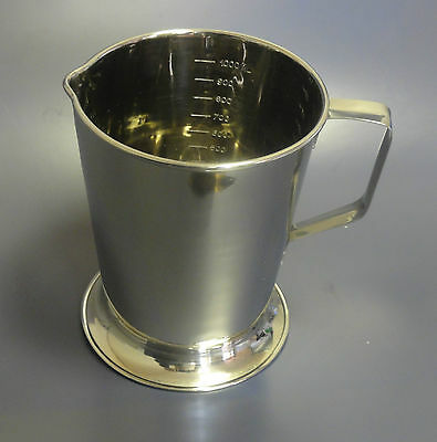 Surgical  Veterinary  Medical St Steel Graduated Measuring Jug 1 Ltr CE  New