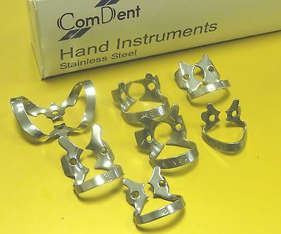 Dental Restorative Set of 7 Most Popular Rubber Dam Clamps British Make New CE