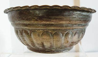 Sdf101 Copper And Tin Washed Bowl, Uar Middle Eastern