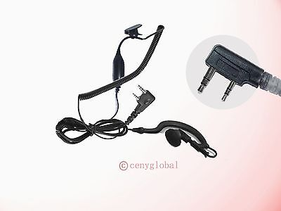 Ear-Hander Earpiece Headset Mic For Kenwood Handheld Radio Pro-Talk TH Series