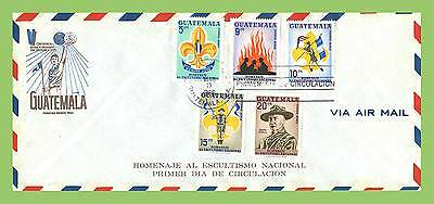 Guatemala 1966 Scouts set on airmail First Day Cover, Large, Note postage