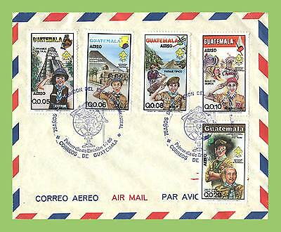 Guatemala 1985 Scouts set on airmail First Day Cover