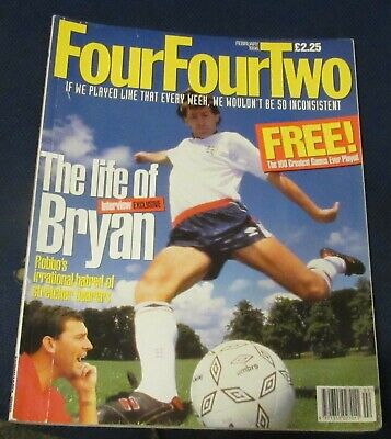 Fourfourtwo Magazine February 1996 - The Life Of Bryan (Robson)