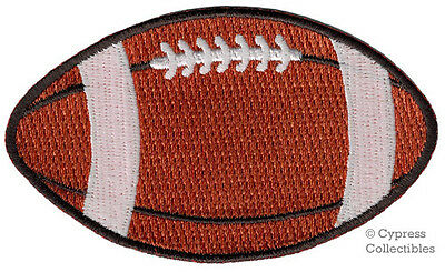 EMBROIDERED FOOTBALL PATCH - new IRON-ON APPLIQUE SPORTS GRIDIRON PIGSKIN EMBLEM