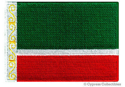 CHECHNYA FLAG embroidered iron-on PATCH RUSSIA CHECHEN REPUBLIC Россия applique