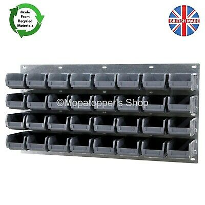 NEW Economy Plastic Parts Storage Bin Kit With Steel Wall Panel Set 2 - Free P&P