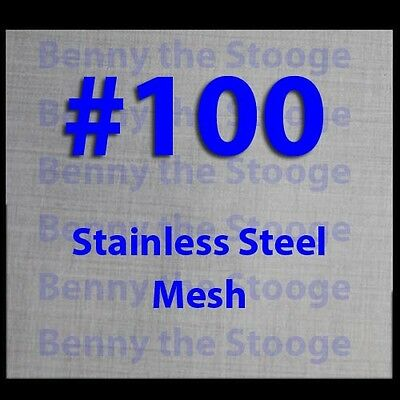 """16""""x36"""" 100 MESH/150 MICRON WOVEN WIRE MESH 316T STAINLESS FILTRATION / KIEF"""