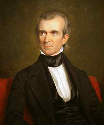 Excellent Oil painting male portrait President of America James K. Polk canvas