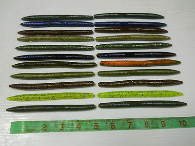 "50 - Senko Style 5"" Bass Fishing Worms - Soft Plastic Stickbait Lures"