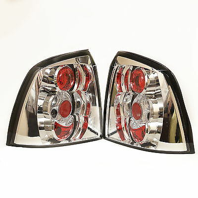VAUXHALL ASTRA Mk4 LEXUS CHROME STYLE REAR TAIL LIGHTS