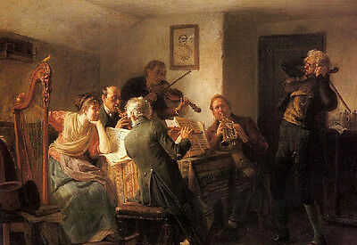 Art Oil painting The Sour Note Elderly Choir Rehearsals no framed canvas