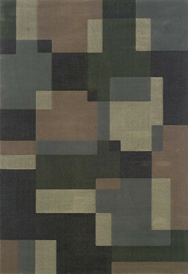 5x8 Sphinx Squares Blue Geometric Cubes 501H Area Rug - Approx 5' 3'' x 7' 9''