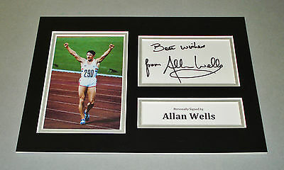 Allan Wells Signed A4 Photo Display Moscow Olympics Autograph Memorabilia + COA