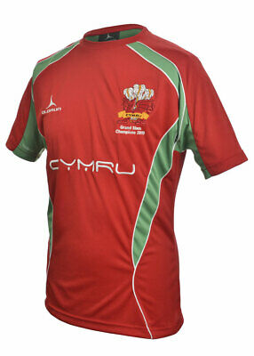 Olorun Wales Rugby Supporters Red Iconic T-Shirt S - XXXXL