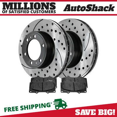 2 Fits 05-17 Chevrolet Silverado 1500 580721 Front Drilled Slotted Rotors Pair