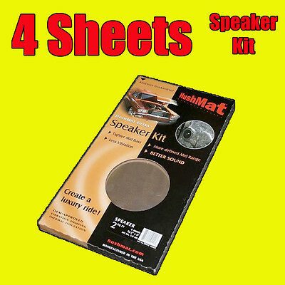 Hushmat Speaker 4 Sheets Car Door Deadening Vibration Sound Proofing Damping Mat
