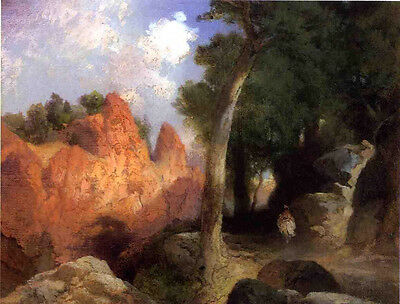 Art no framed Oil painting Thomas Moran - Canyon of the Clouds nice landscape