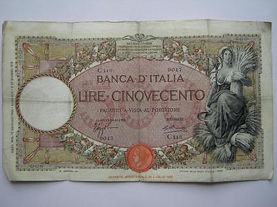 Italy 500 Lire banknote, 1935. Pick 51.