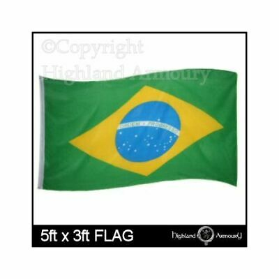 5ft x 3ft Flag BRAZIL BRAZILIAN National World Cup Football Large Flags 150x90cm