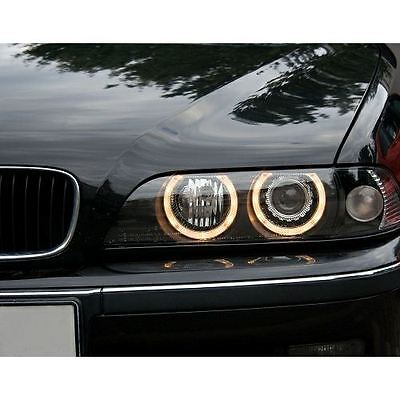 Bmw 5 Series E39 Saloon & Estate 1996-2000 Black Angel Eyes Headlights Pair