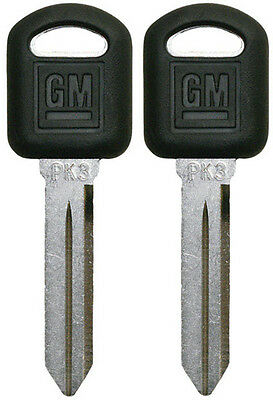 2 NEW GM Transponder Replacement Chip Key Blank PK3  690552 B97-PT 88891799 LOGO