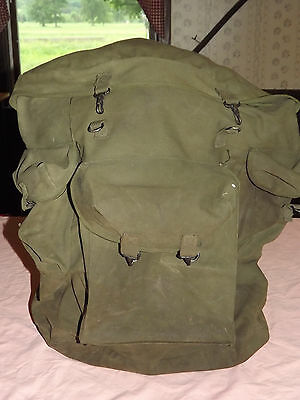 Vintage Wwii  Us Army Soldier Metal Frame Rucksack Backpack