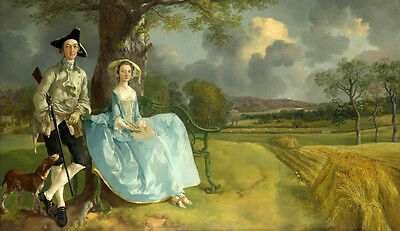 Oil painting nice young lovers count noble lady dog in harvest season cornfield