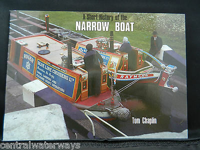 A Short History of the Narrow Boat by Tom Chaplin Paperback Book Canal Barge NEW