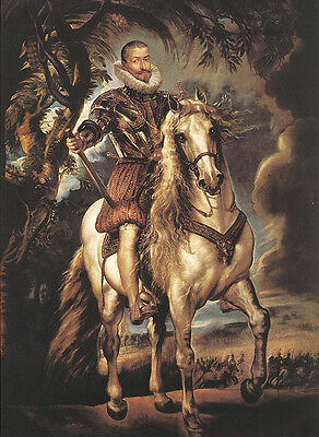 Art oil painting Peter Paul Rubens - Horseman Duke of Lerma in landscape 36""