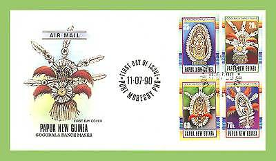 Papua New Guinea 1990 Dance Masks set First Day Cover